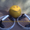 Knuckle Racket Prototype, set with ball