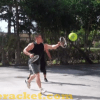 Knuckle Racket Racquet, 1-on-1 game with large ball